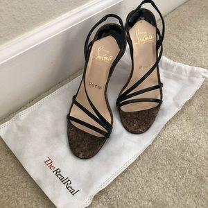 Christian Louboutin Cork Heel Sandals 37